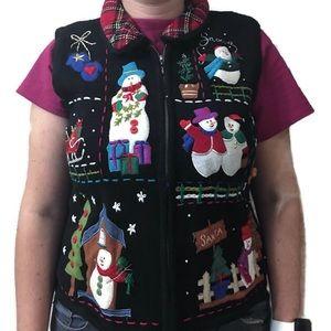 Designer Originals Studio Joy Black Snowman Vest